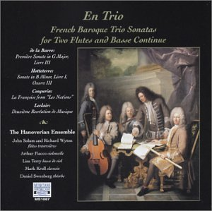 Barre Hotteterre Leclair Sonatas For 2 Flutes & Basso C Wynton Fiacco Terry Kroll Hanoverian Ens