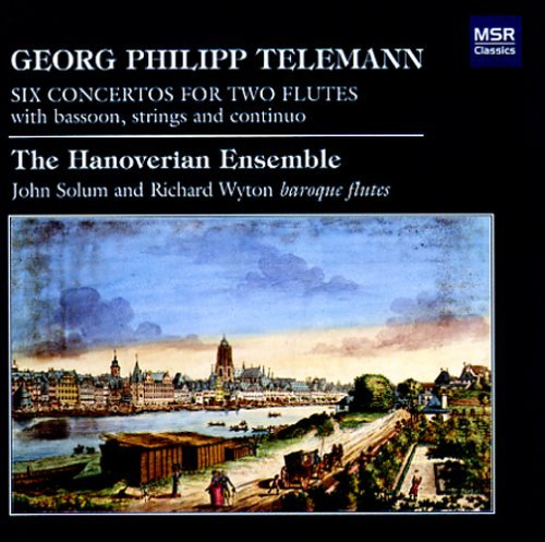 G.P. Telemann Six Concertos For Two Flutes Fiacco (vc) Jolivet (vn) Hanoverian Ens