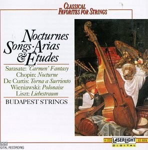 Classical Favorites For String Nocturnes Songs Arias & Etudes Sarasate Chopin Wieniawski Liszt Mendelssohn De Curtis