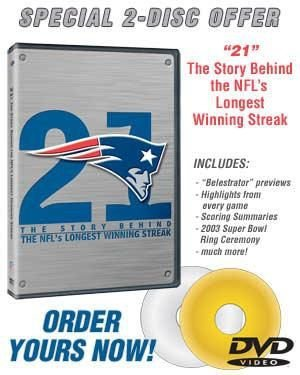 New England Patriots 21 The Story Behind The Nfl's Longest Winning Str