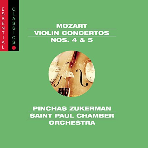 W.A. Mozart Violin Concertos Nos. 4 & 5 Zukerman St. Paul Co