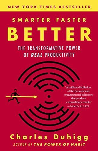 Charles Duhigg Smarter Faster Better The Transformative Power Of Real Productivity