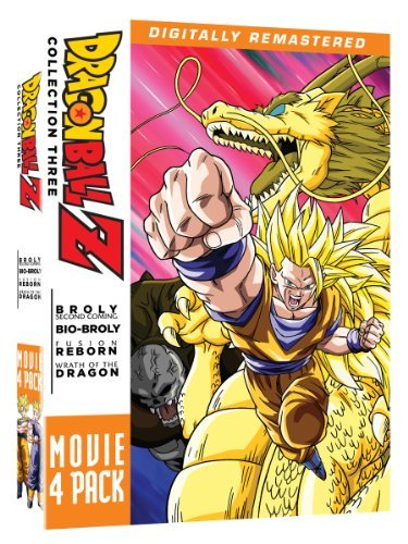Movie Pack #3 Movies 10 13 Dragon Ball Z Ws Tvpg 4 DVD