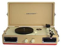 Turntable Crosley Mini Turntable Red Tan