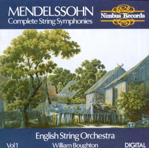 Felix Mendelssohn Symphony String 1 6 Boughton English Str Orch