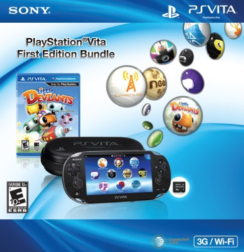 Ps Vita System Black 3g Bundle