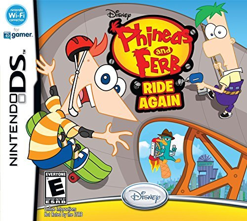 Nintendo Ds Phineas & Ferb Ride Again Disney Interactive Distri E