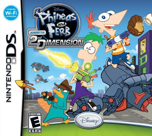 Nintendo Ds Phineas & Ferb Across The 2nd Disney Interactive Distri E