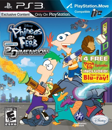 Ps3 Phineas & Ferb Across The 2nd Disney Interactive Distri E10+
