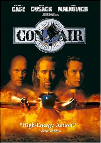Con Air Cage Cusack Malkovich DVD R Ws