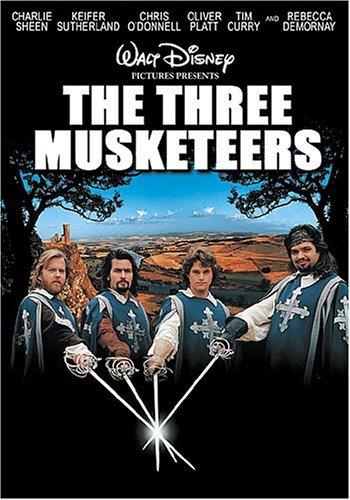 Three Musketeers (1993) Sheen Sutherland O'donnell DVD Pg