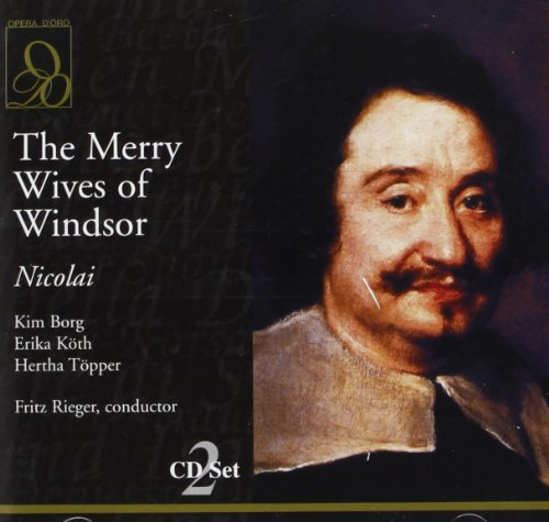 O. Nicolai Merry Wives Of Windsor (sl) Borg Topper Koth Rieger Bavarian Rso & Chorus