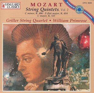 W.A. Mozart Qnt Str Vol. 2 Primrose*william (va) Griller Str Qt