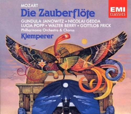 W.A. Mozart Magic Flute Comp Opera Janowitz Gedda Berry Frick + Klemperer Phil Orch &