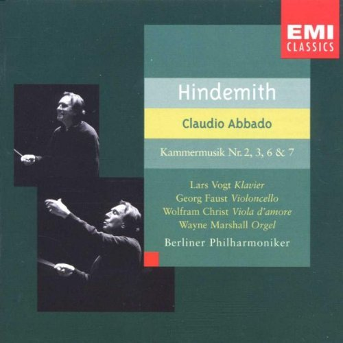 P. Hindemith Kammermusiken 2 3 6 7 Vogt Faust Christ Marshall Abbado Berlin Po
