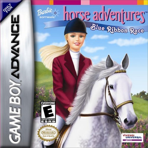 Gba Barbie Horse Adventures Blue Ribbon Race