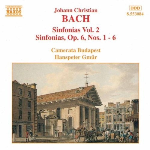 J.C. Bach Sinf Op 6 (6) Gmur Budapest Camerata