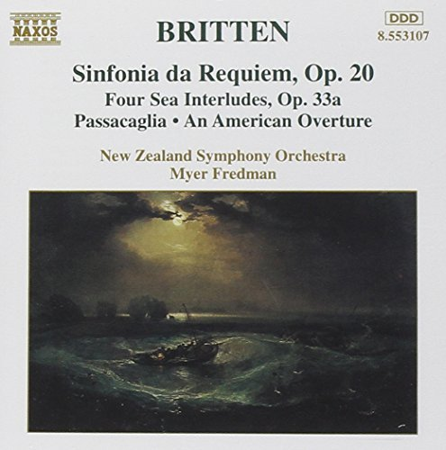 B. Britten Sinf Da Requiem Sea Interludes Fredman New Zealand So