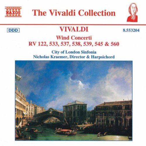 Antonio Vivaldi Con Wind Kraemer Stirling Caister + Watkinson London Sinf