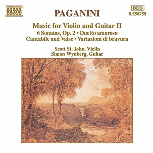 N. Paganini Music For Violin & Guitar V.2 Saint John (vn) Wynberg (gtr)