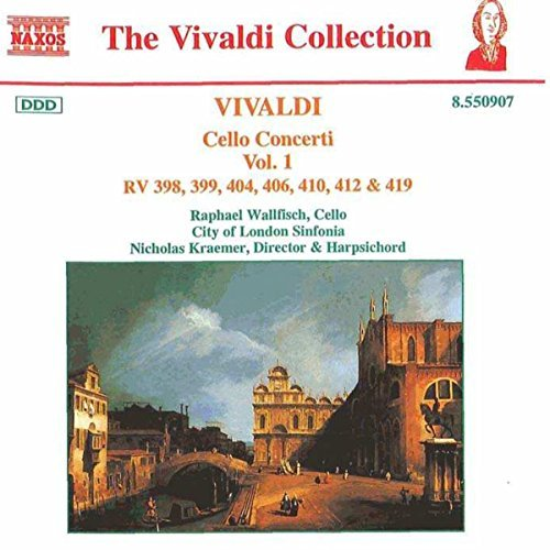 Antonio Vivaldi Cello Concertos Vol. 1 Wallfisch Kraemer Jeffrey & Watkinson London Sinf