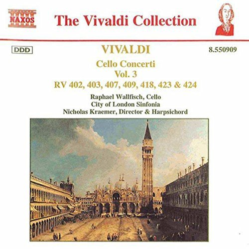 Antonio Vivaldi Cello Concertos Vol. 3 Wallfisch Kraemer Jeffrey & Watkinson London Sinf