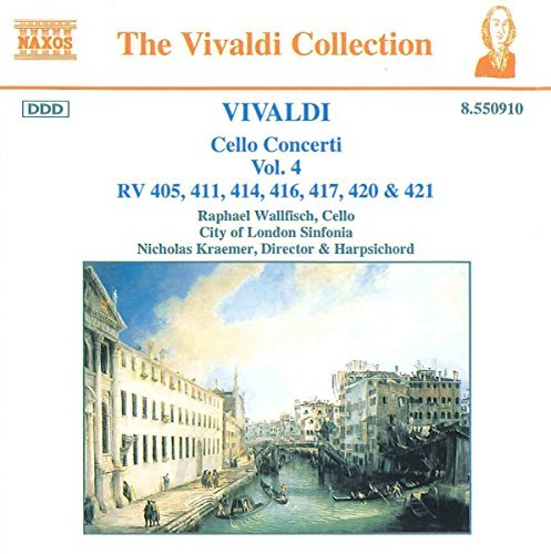 Antonio Vivaldi Cello Concertos Vol. 4 Wallfisch Kraemer Jeffrey & Watkinson London Sinf