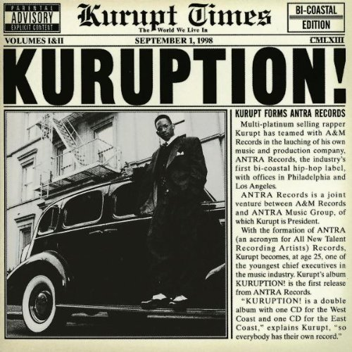 Kurupt Kuruption Explicit Version 2 CD Set