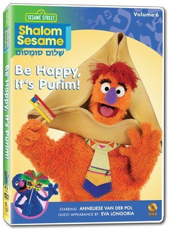Vol. 6 Be Happy It's Purim! Shalom Sesame Clr Eng Lng Chnr Ntsc (1)