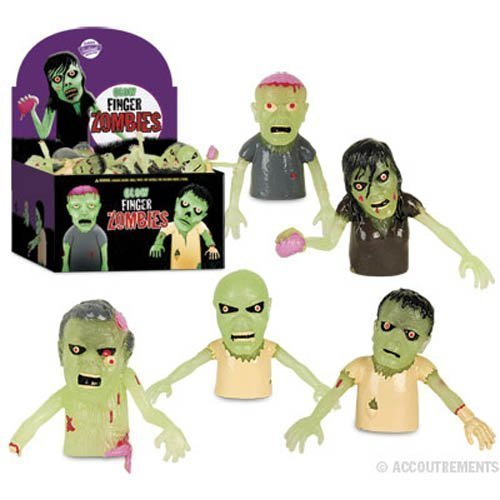 Novelty Glow Finger Zombies 60 Display