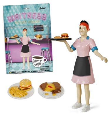 Toy Waitress Action Figure