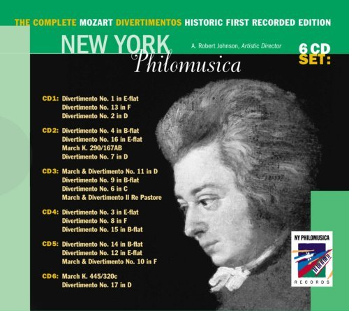 New York Philomusica Vol. 1 6 Comp Mozart Diverts