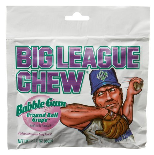 Candy Big League Chew Groundball Grape