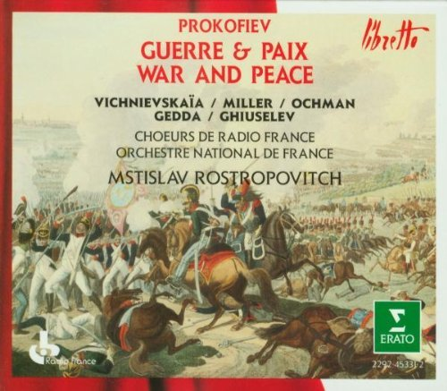 S. Prokofiev War & Peace (guerre & Paix) Rostropovich Orch Nat France