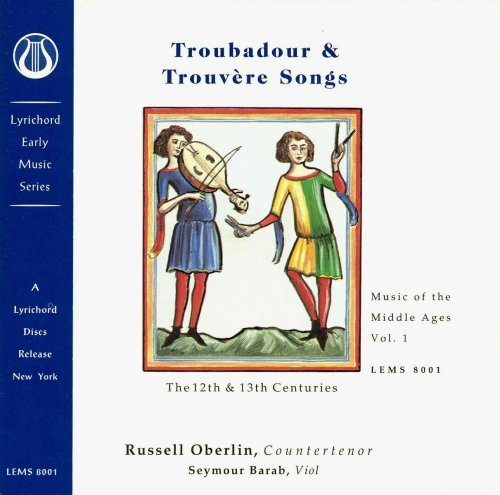 Russell Oberlin Troubador & Trouvere Songs (12