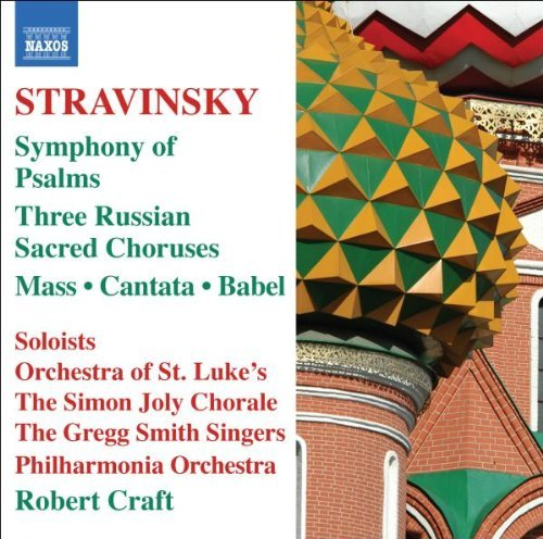 I. Stravinsky Symphony Of Psalms Mass Cantic Bogdan (ten) Sherry (vc) Craft Po