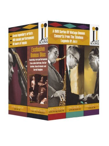 Jazz Icons Box Set With Bonus Jazz Icons Box Set With Bonus 8 DVD