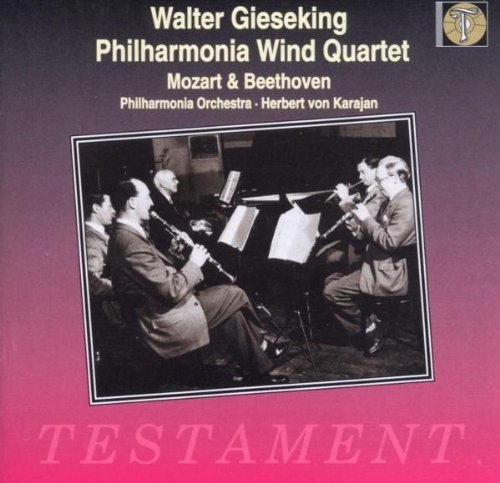 Mozart Beethoven Quintet For Piano & Winds Sinf Gieseking*walter (pno) Karajan Po