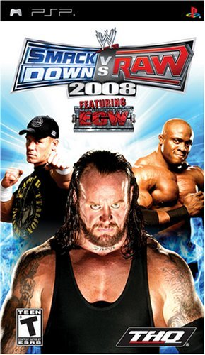 Psp Wwe Smackdown Vs. Raw 2008 Thq T