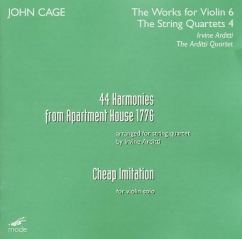 J. Cage Harmonies From Apartment House