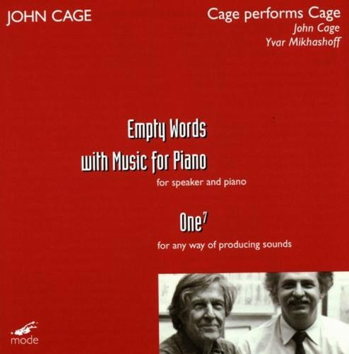 J. Cage Cage Performs Cage Empty Words