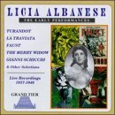 Licia Albanese Live Recordings 1937 1949 Albanese (sop)