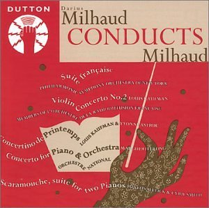 D. Milhaud Suite Francaise Violin Cto No. Various