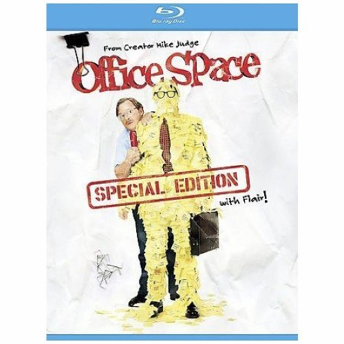 Office Space Livingston Aniston Blu Ray R Ws