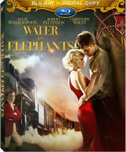 Water For Elephants [blu Ray] Witherspoon Waltz Pattinson Pg13 Incl. Dc