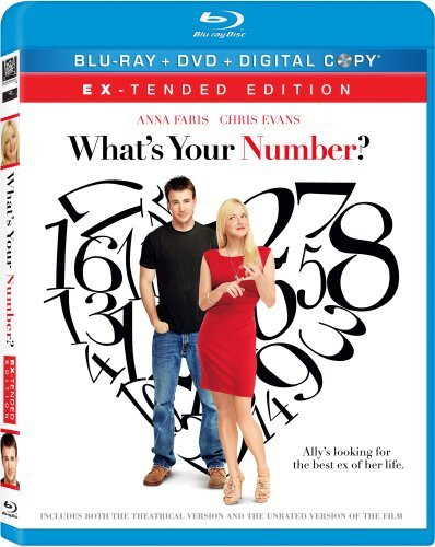 What's Your Number? Faris Evans Blu Ray Ws R Incl. DVD Dc