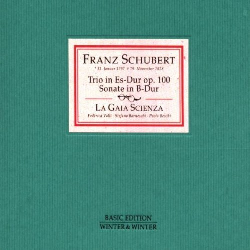 F. Schubert Trio Piano Violin Cello Sonata La Gaia Scienza