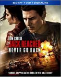 Jack Reacher Never Go Back Cruise Smulders Blu Ray DVD Dc Pg13