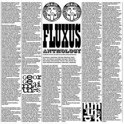 Fluxus Anthology A Collection Of Music & Sound Events Lp