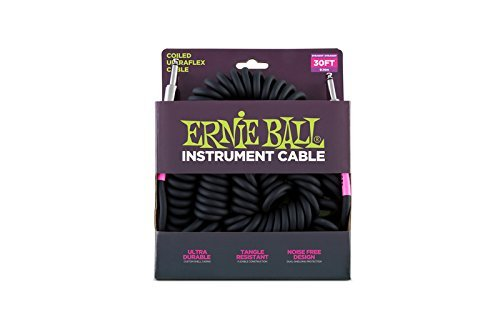 Ernie Ball Coil Cable Ss Black 30ft